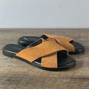 Kate Spade Saturday Camel Leather Slides Sandals